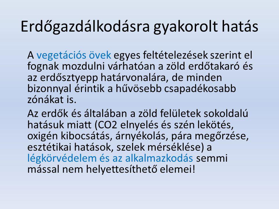 Erdőgazdálkodásra gyakorolt hatás