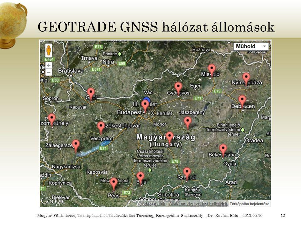 GEOTRADE GNSS hálózat állomások