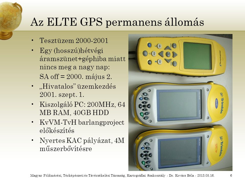 Az ELTE GPS permanens állomás