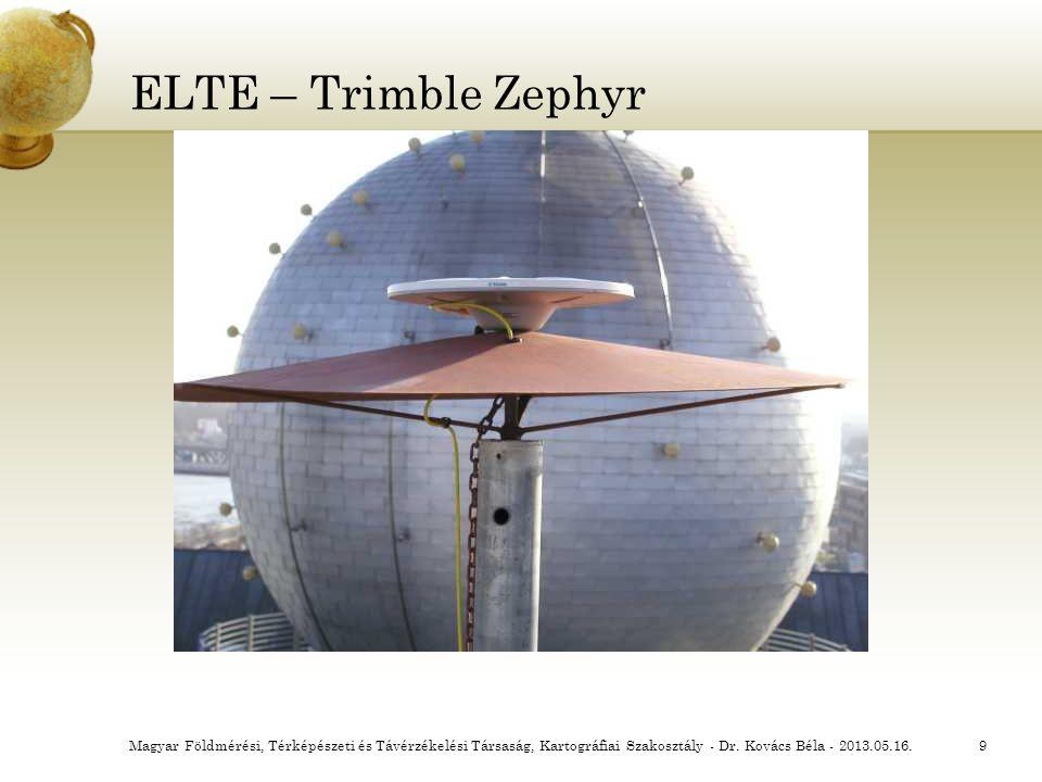 ELTE – Trimble Zephyr Magyar Földmérési, Térképészeti és Távérzékelési Társaság, Kartográfiai Szakosztály - Dr.