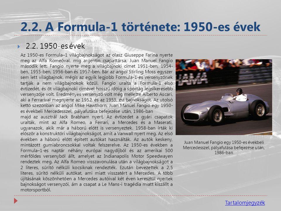 2.2. A Formula-1 története: 1950-es évek