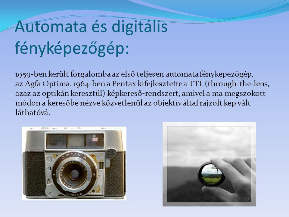 Automata és digitális fényképezőgép: