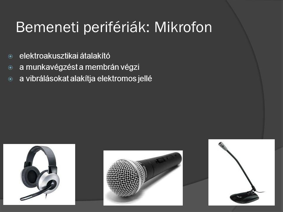 Bemeneti perifériák: Mikrofon