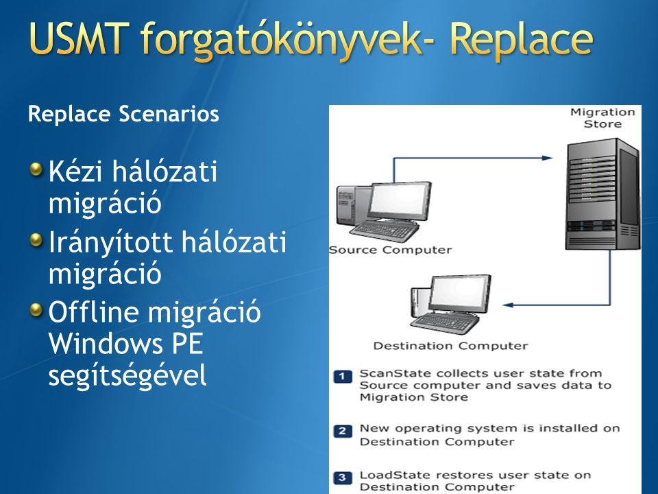 USMT forgatókönyvek- Replace