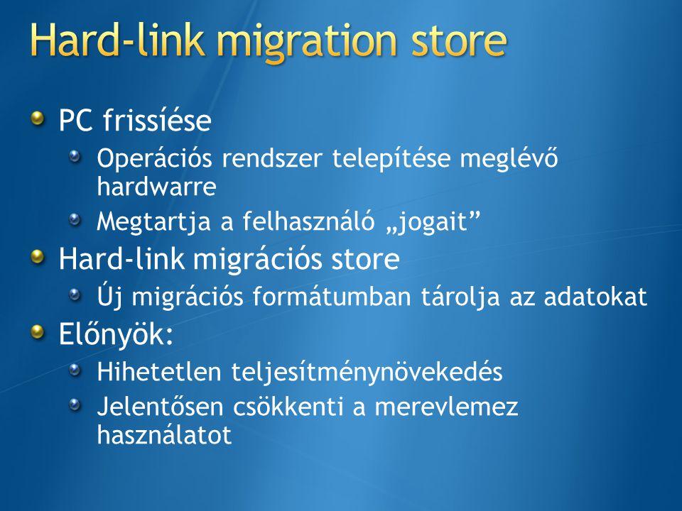 Hard-link migration store