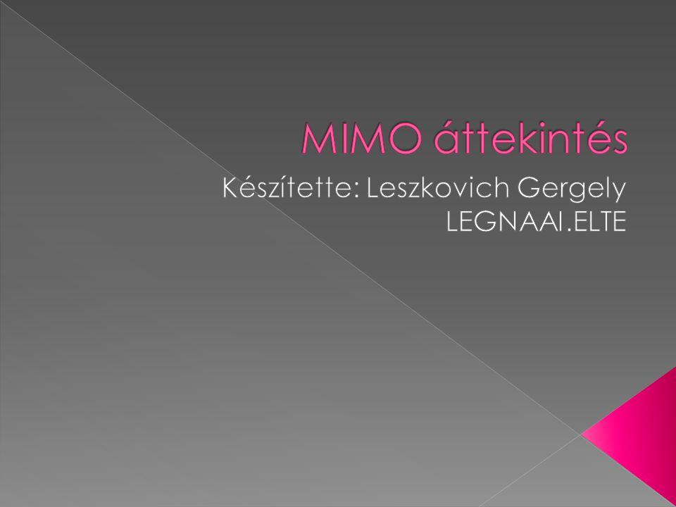 Készítette: Leszkovich Gergely LEGNAAI.ELTE