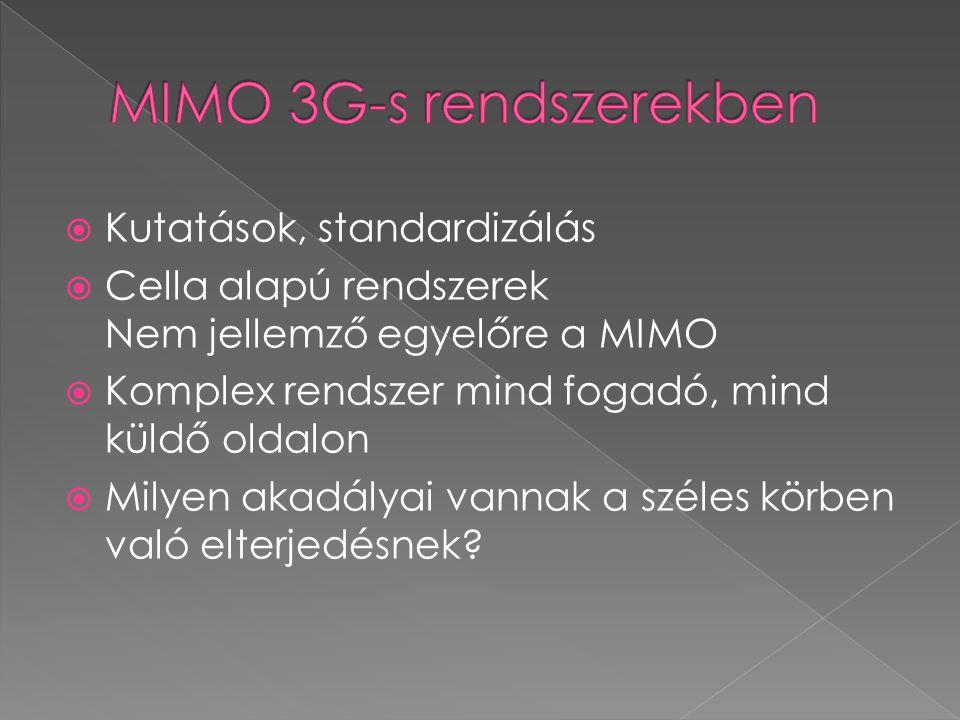 MIMO 3G-s rendszerekben