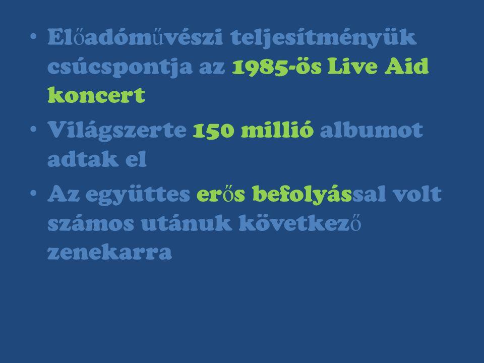 Előadóművészi teljesítményük csúcspontja az 1985-ös Live Aid koncert
