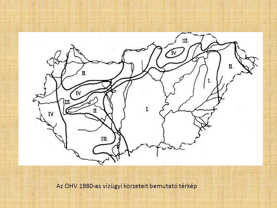 Az OHV 1980-as vízügyi körzeteit bemutató térkép