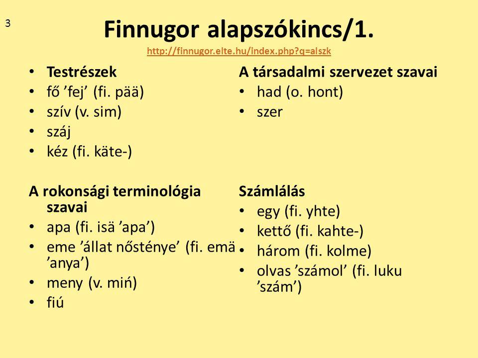 Finnugor alapszókincs/1. http://finnugor.elte.hu/index.php q=alszk