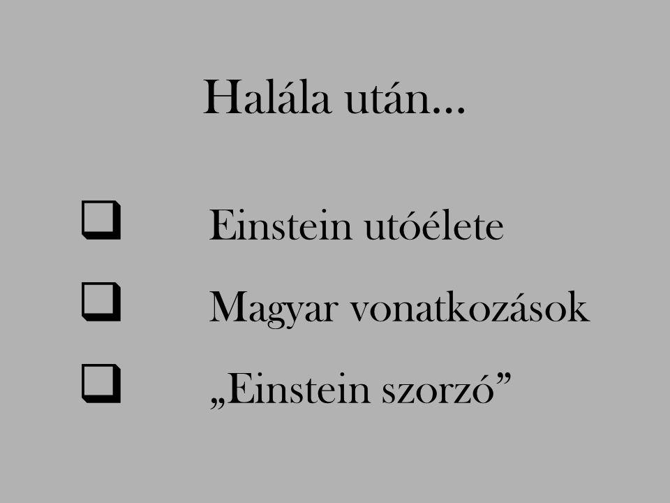 """Halála után… Einstein utóélete Magyar vonatkozások """"Einstein szorzó"""