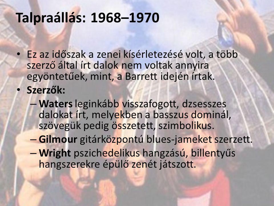 Talpraállás: 1968–1970