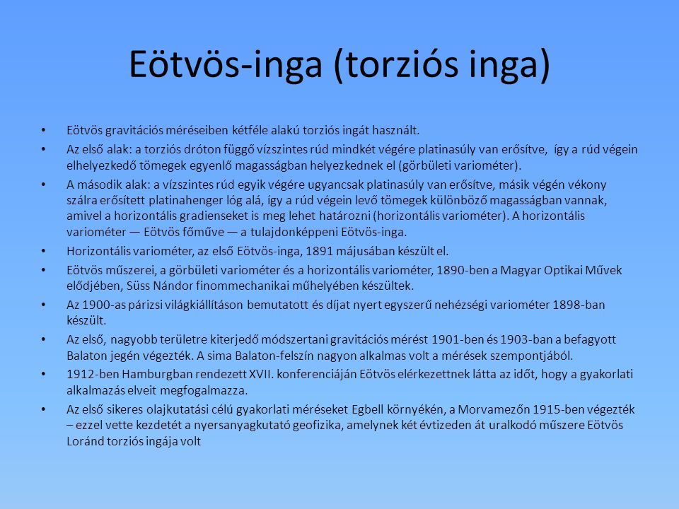 Eötvös-inga (torziós inga)