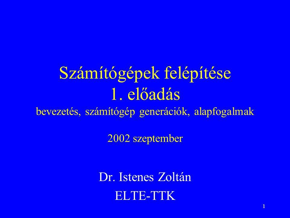 Dr. Istenes Zoltán ELTE-TTK