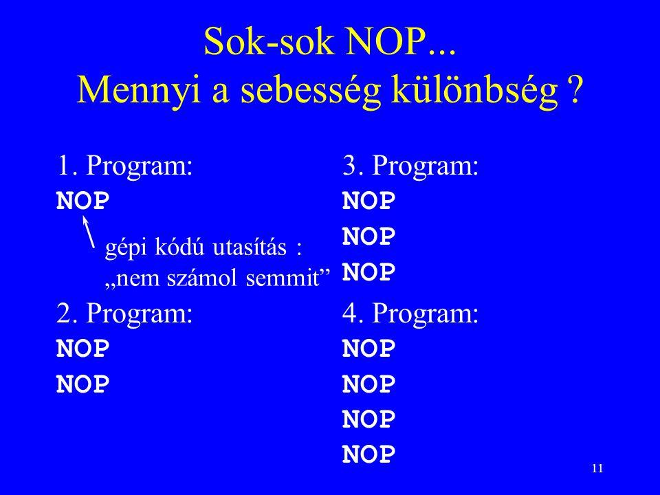 Sok-sok NOP... Mennyi a sebesség különbség
