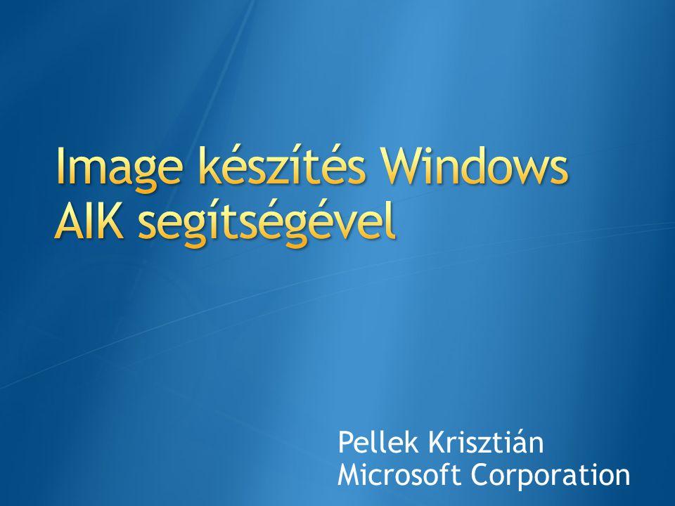 Image készítés Windows AIK segítségével