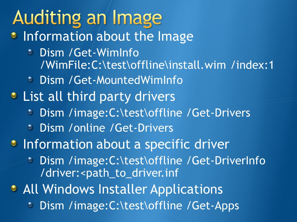 Auditing an Image Information about the Image