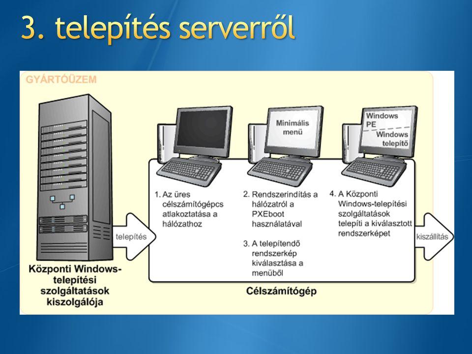 3. telepítés serverről