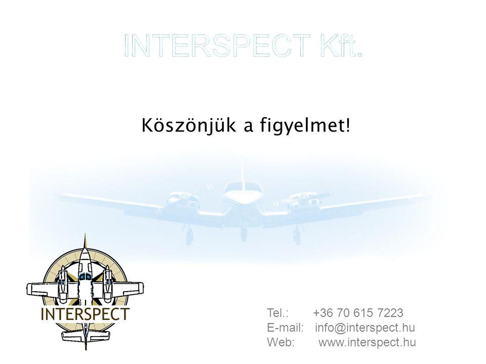 INTERSPECT Kft. Köszönjük a figyelmet! Tel.: +36 70 615 7223