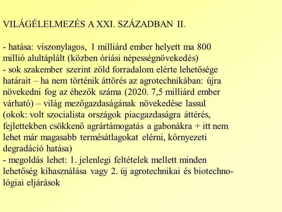VILÁGÉLELMEZÉS A XXI. SZÁZADBAN II.