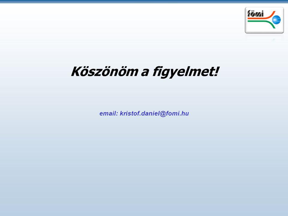 email: kristof.daniel@fomi.hu