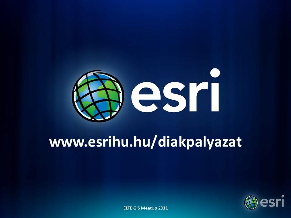 www.esrihu.hu/diakpalyazat ELTE GIS MeetUp 2011