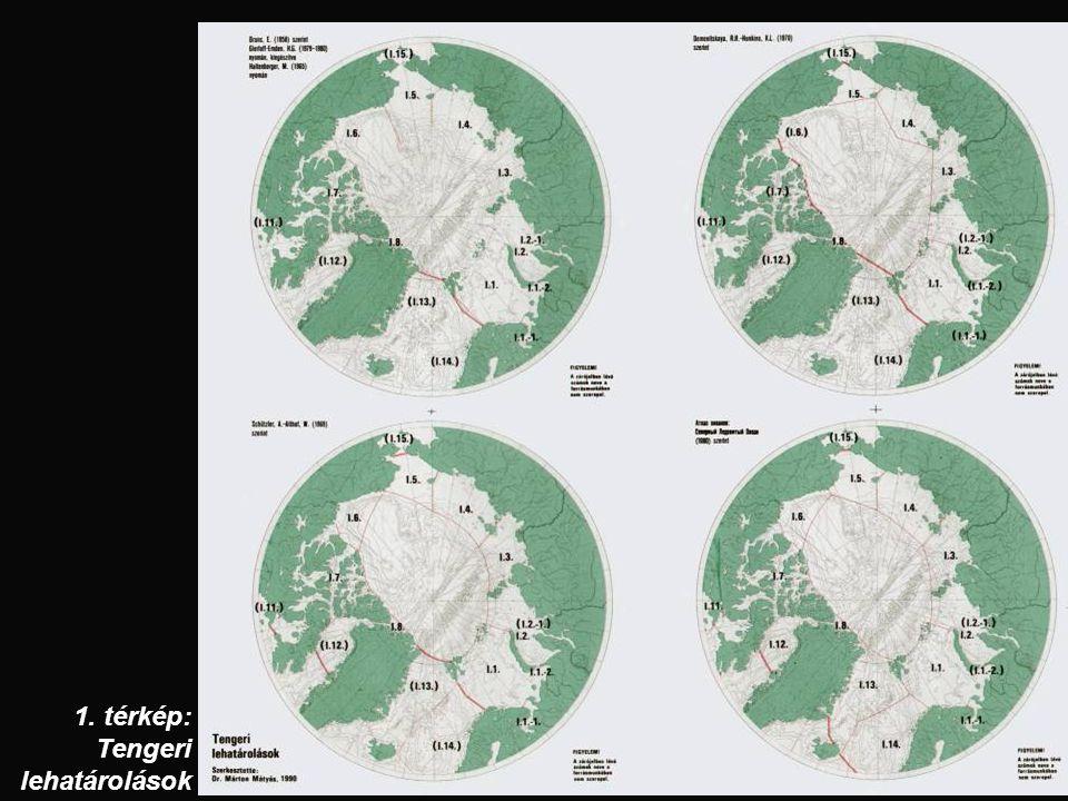 1. térkép: Tengeri lehatárolások