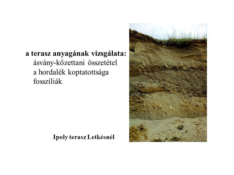 a terasz anyagának vizsgálata: ásvány-kőzettani összetétel