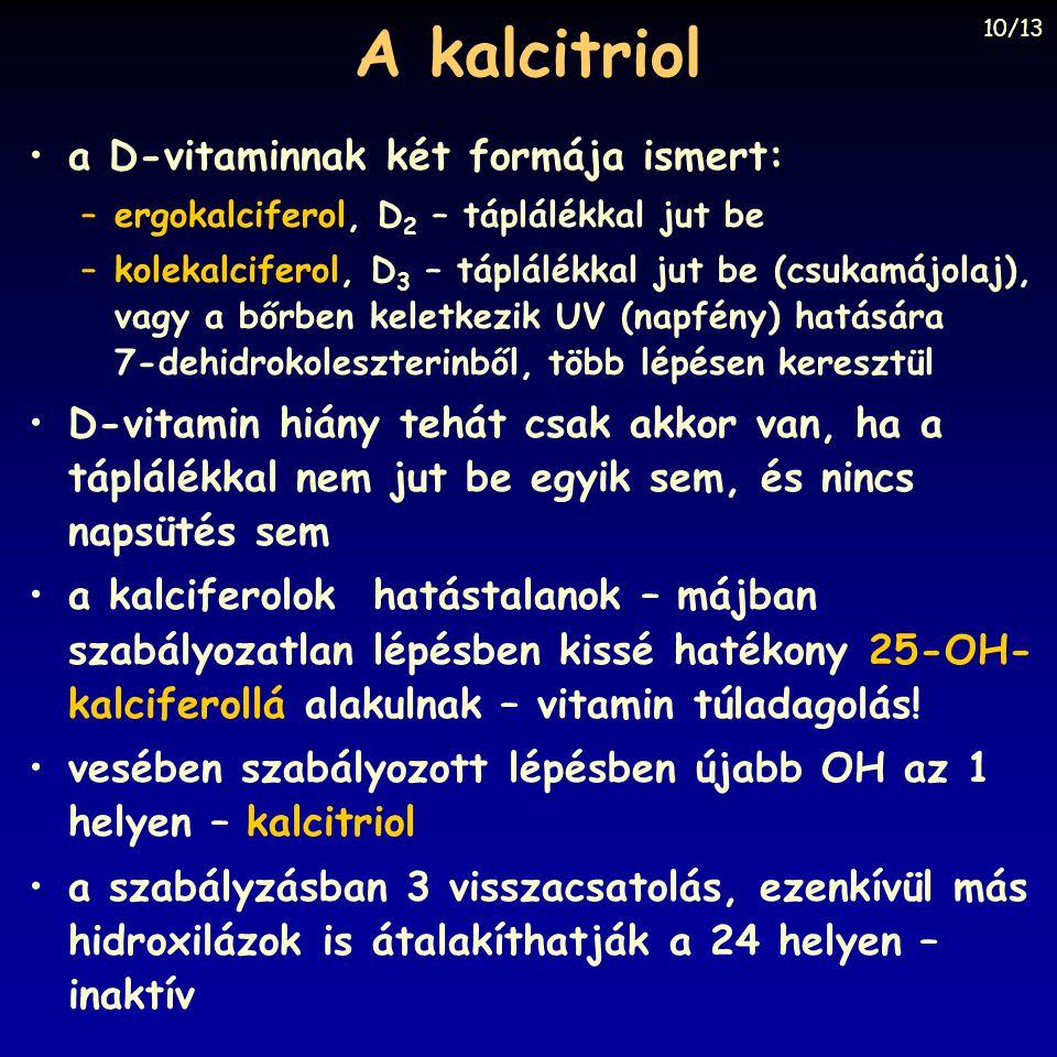 A kalcitriol a D-vitaminnak két formája ismert: