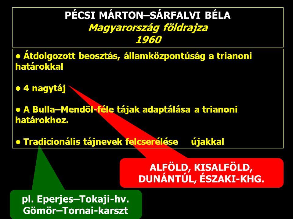PÉCSI MÁRTON–SÁRFALVI BÉLA Magyarország földrajza