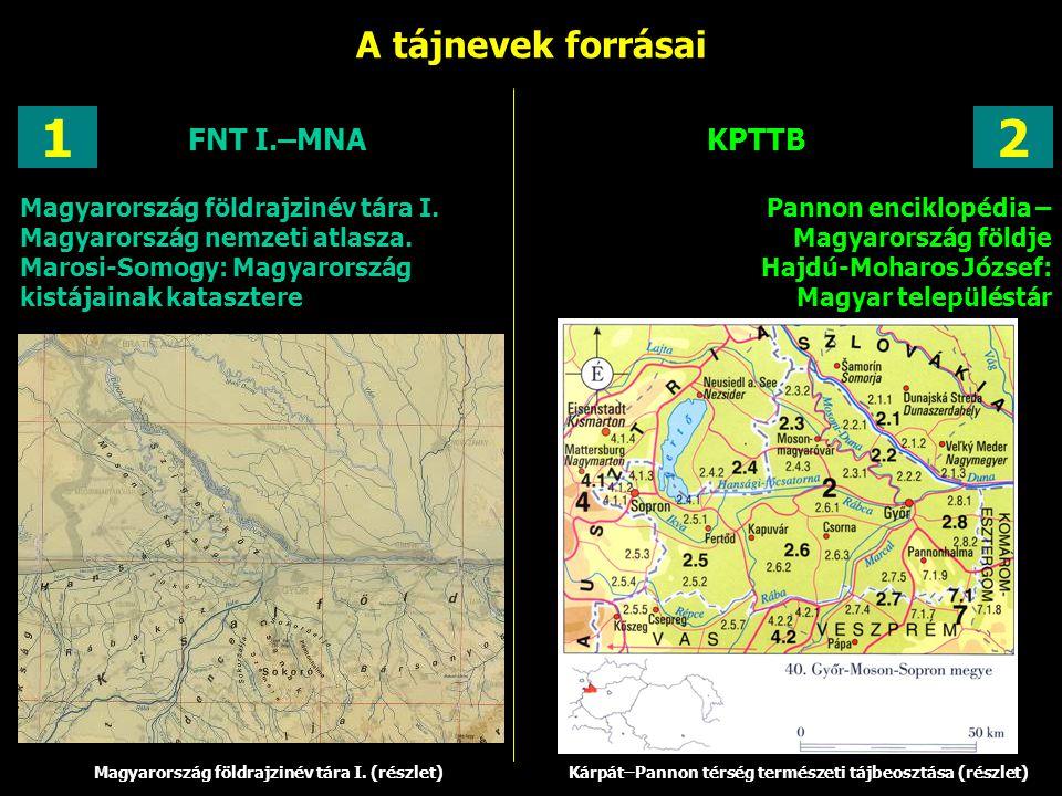 1 2 A tájnevek forrásai FNT I.–MNA KPTTB