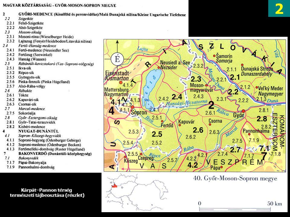 természeti tájbeosztása (részlet)
