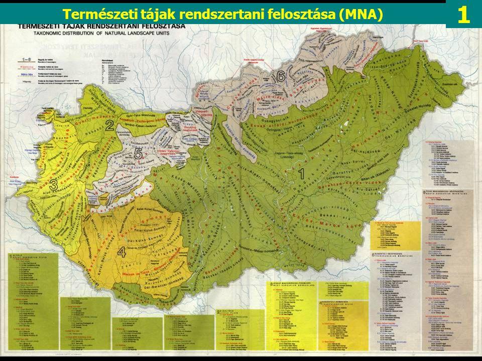 Természeti tájak rendszertani felosztása (MNA)
