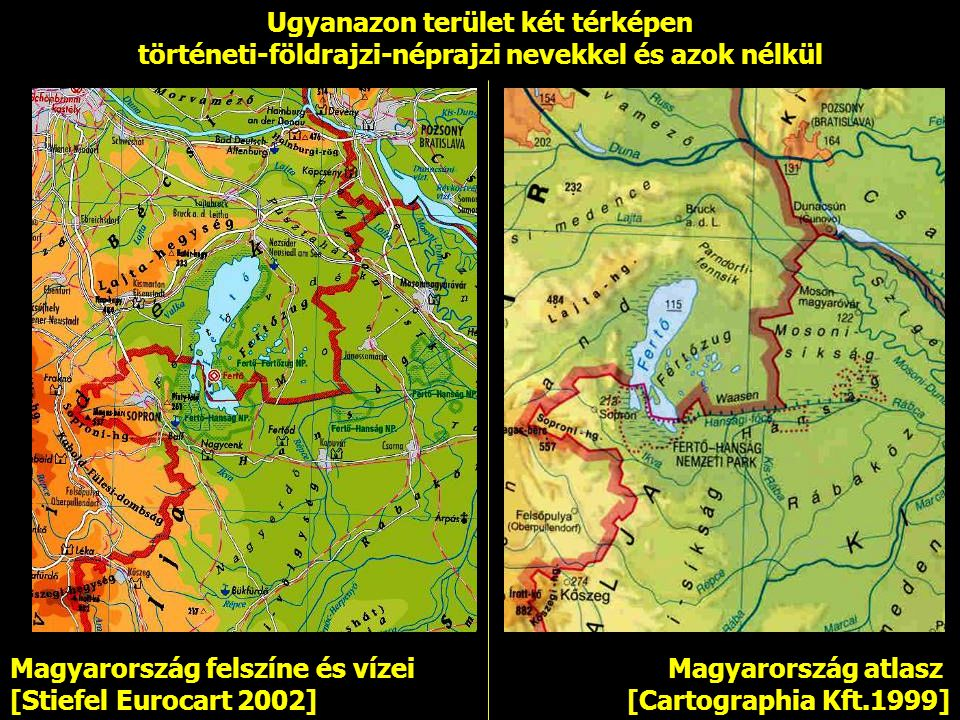 Ugyanazon terület két térképen
