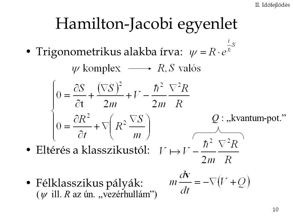 Hamilton-Jacobi egyenlet