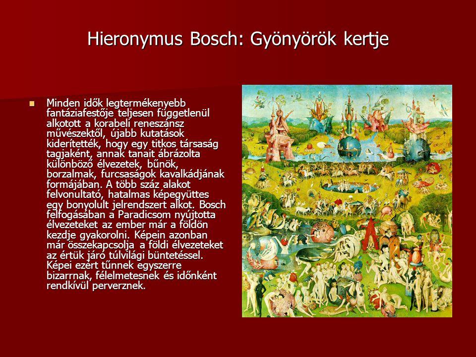 Hieronymus Bosch: Gyönyörök kertje