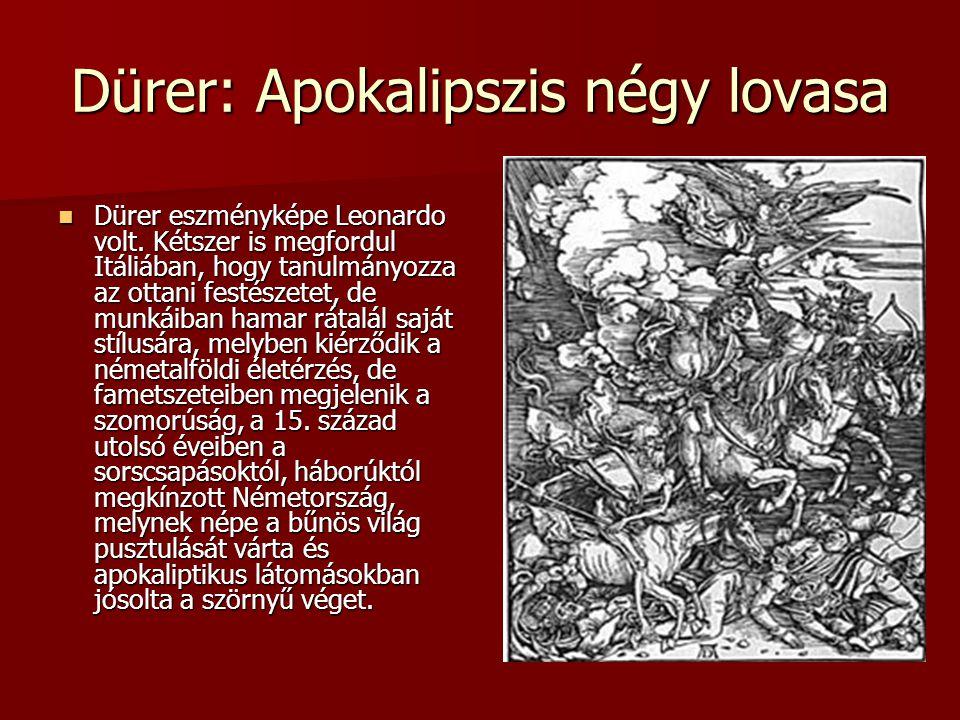 Dürer: Apokalipszis négy lovasa