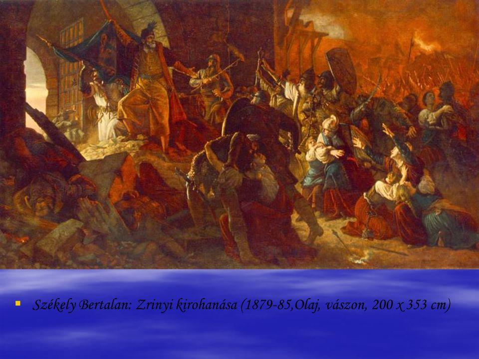 Székely Bertalan: Zrinyi kirohanása (1879-85,Olaj, vászon, 200 x 353 cm)
