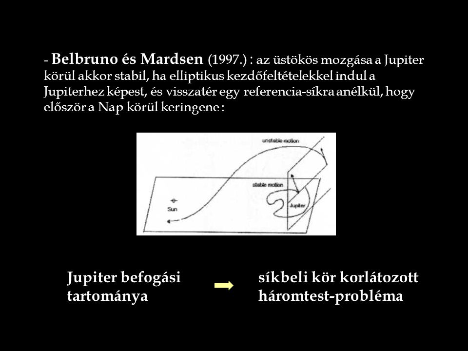Jupiter befogási tartománya síkbeli kör korlátozott háromtest-probléma