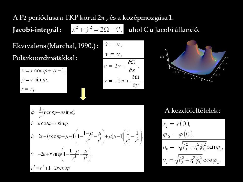 A P2 periódusa a TKP körül 2p , és a középmozgása 1.