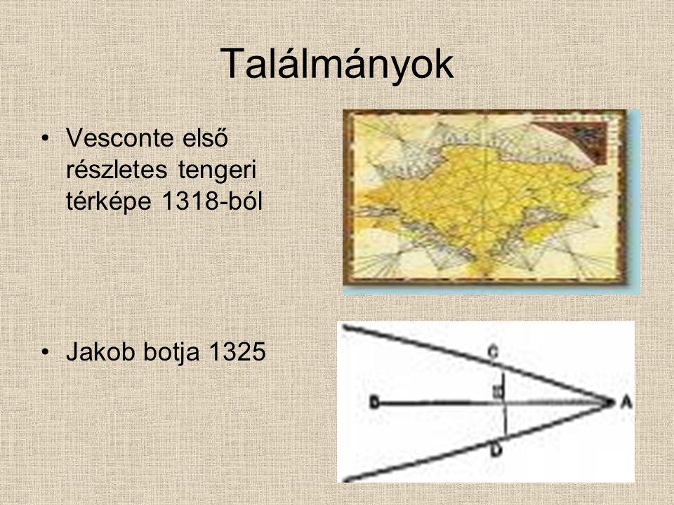 Találmányok Vesconte első részletes tengeri térképe 1318-ból