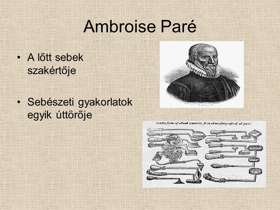 Ambroise Paré A lőtt sebek szakértője