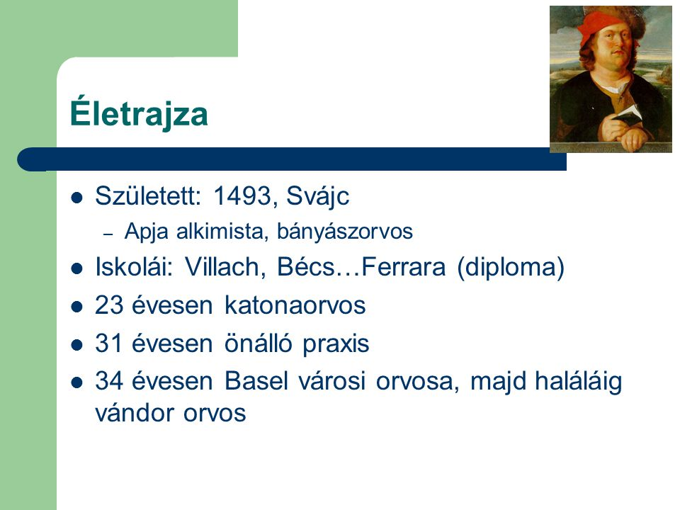 Életrajza Született: 1493, Svájc