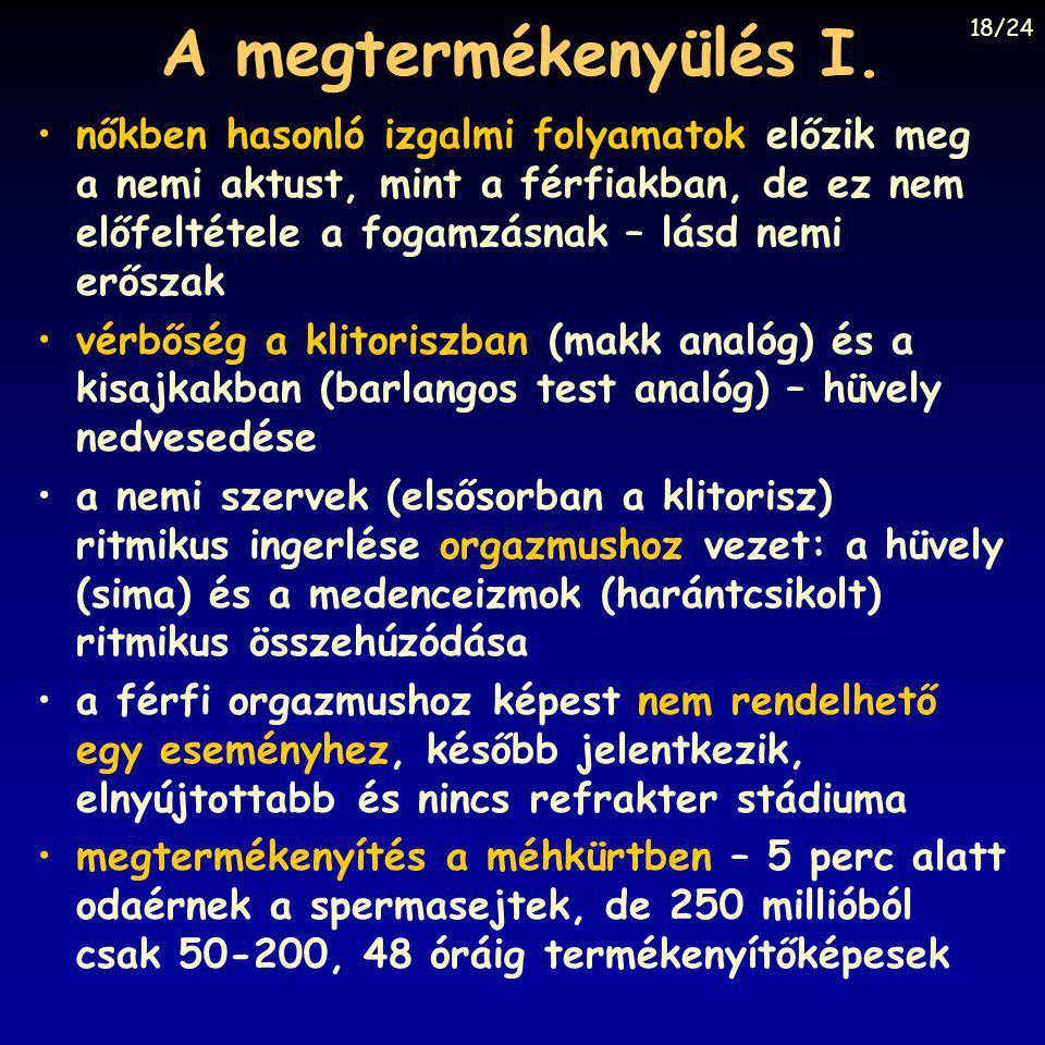 A megtermékenyülés I. 18/24.