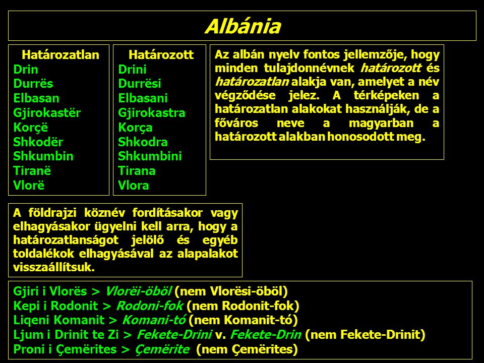 Albánia Határozatlan Drin Durrës Elbasan Gjirokastër Korçë Shkodër