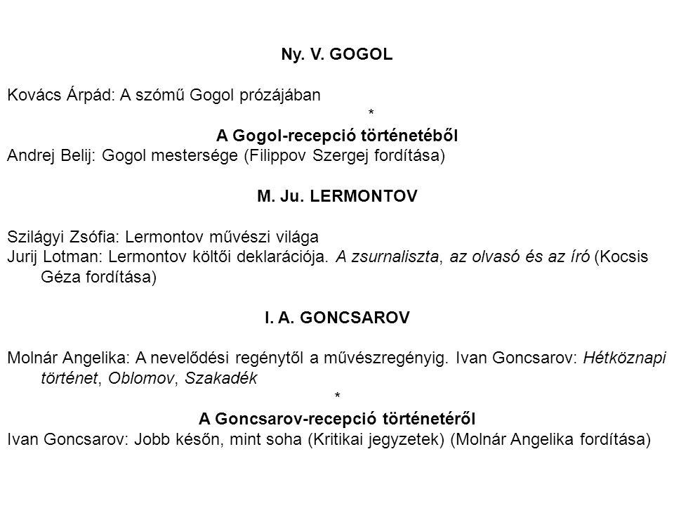 A Gogol-recepció történetéből