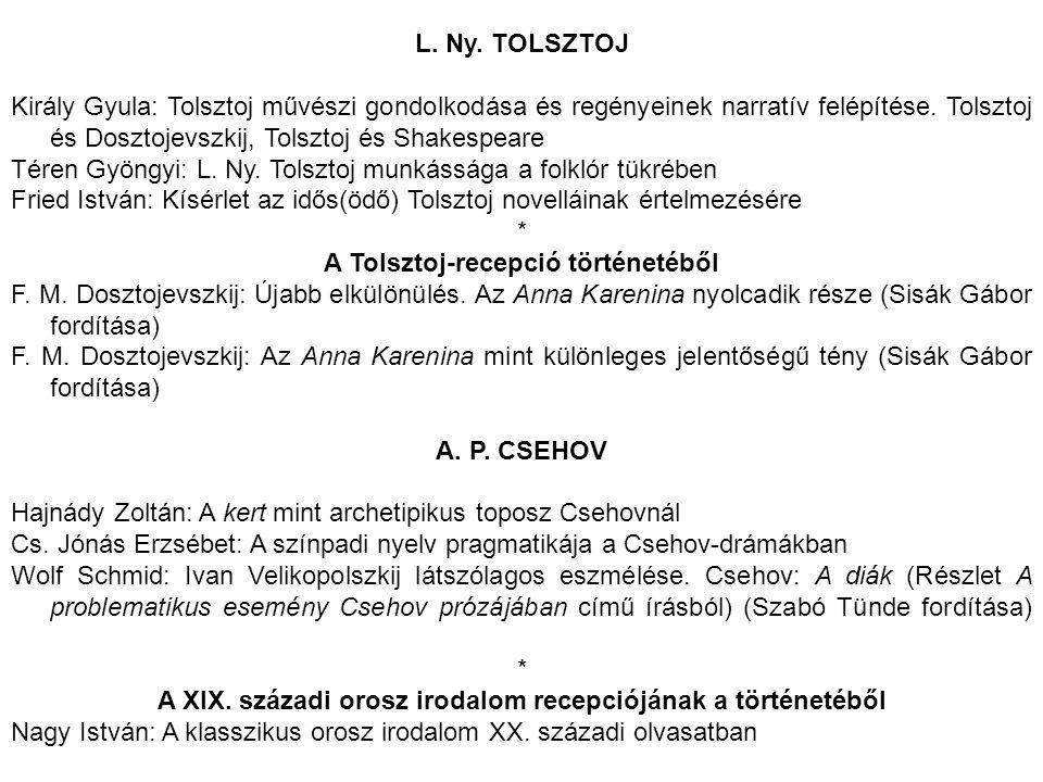 Téren Gyöngyi: L. Ny. Tolsztoj munkássága a folklór tükrében