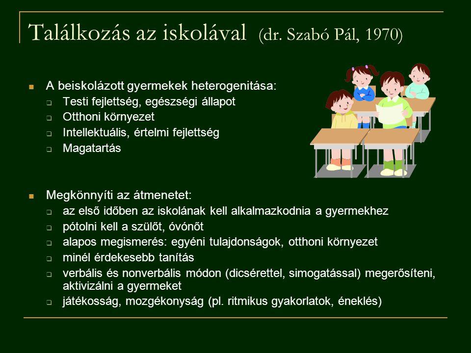 Találkozás az iskolával (dr. Szabó Pál, 1970)