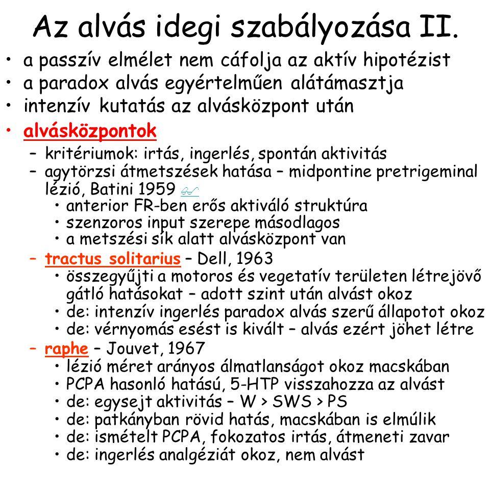 Az alvás idegi szabályozása II.