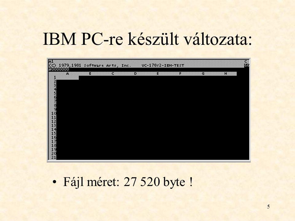 IBM PC-re készült változata: